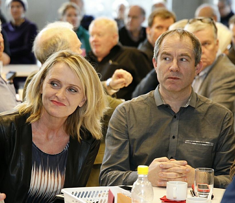 Heiða Björg Hilmisdóttir, borgarfulltrúi Samfylkingarinnar, og Hrannar B. Arnarsson.