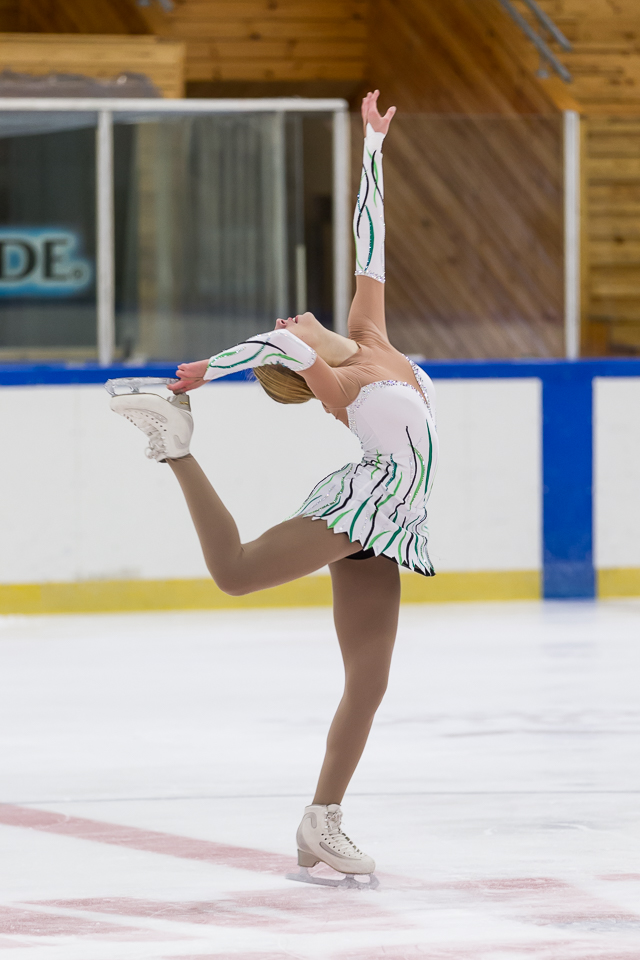 Jade Rautiainen frá Finnlandi var í 3. sæti í junior ...