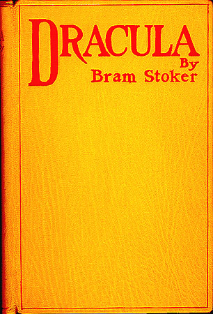 The first edition cover of Dracula.