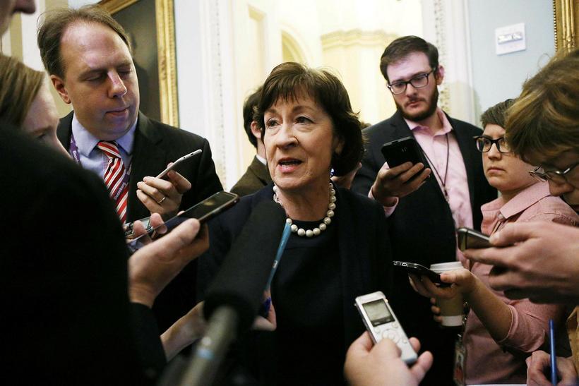 Repúblikanaþingmaðurinn Susan Collins var ein þeirra sem kaus gegn vilja …