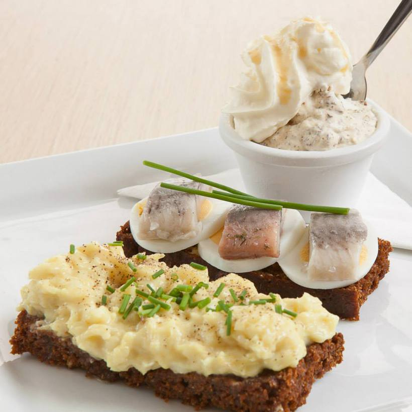 Rye bread ice cream with rye bread open faced sandwiches ...