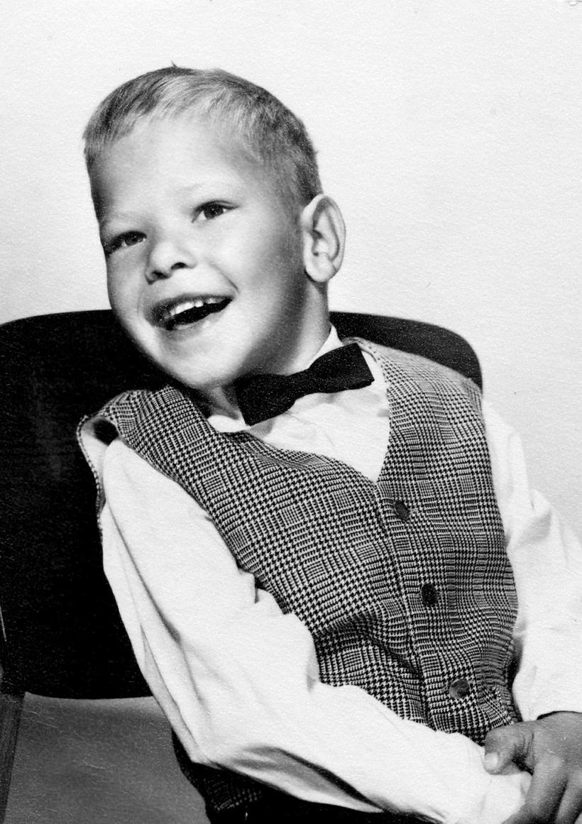 Haraldur Ólafsson as a young boy.
