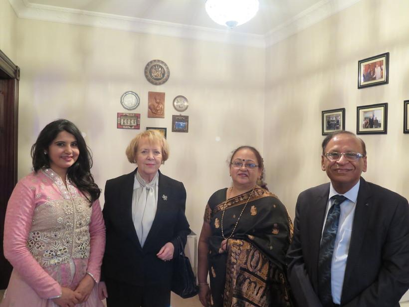 Dr. Harbeen Arora, Vigdís Finnbogadóttir, Lata Nagpa og Rajiv Kumar ...
