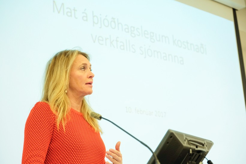 Þorgerður Katrín Gunnarsdóttir sjávarútvegsráðherra.