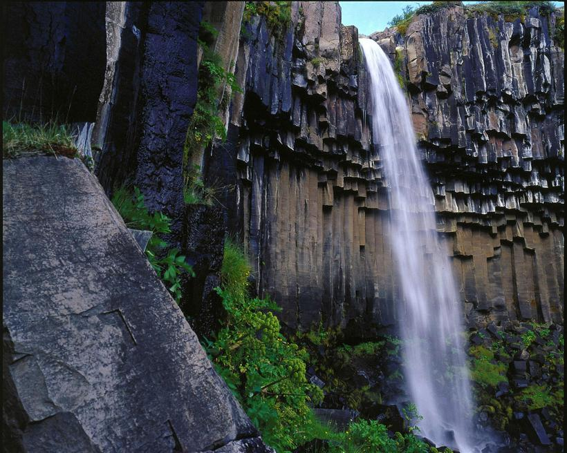 Svartifoss, a famous waterfall in Skaftafell National Park.