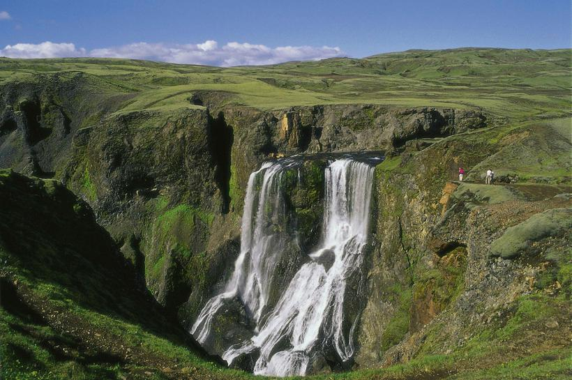 Fagrifoss í Geirlandsá, a common pit stop for travelers on ...