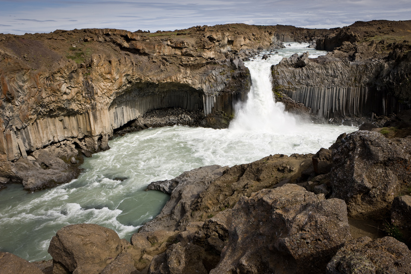Aldeyjarfoss in the Icelandic highlands