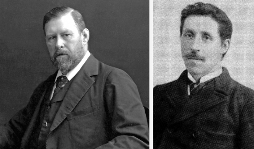 Bram Stoker, on the left, and Icelander Valdimar Ásmundsson, on ...