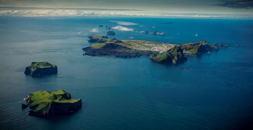 The biggest island of the Vestmannaeyjar archipelago is called Heimaey.