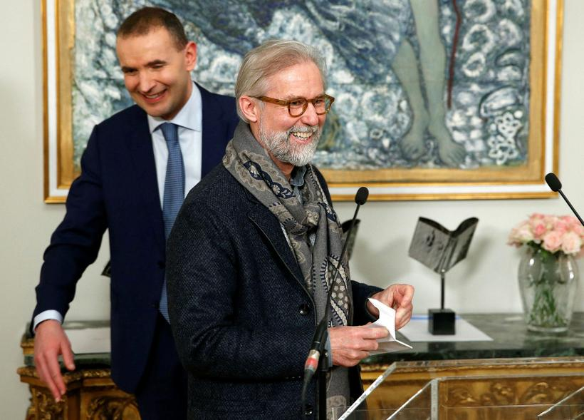 Ragnar Axelsson, RAX, receiving prize for best documentary book at …