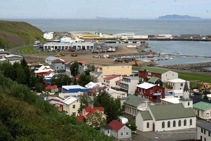 Sauðárkrókur í Skagafirði.