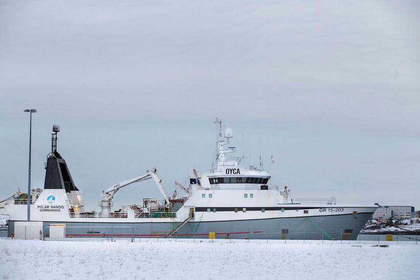 Mennirnir voru skipverjar á Polar Nanoq.