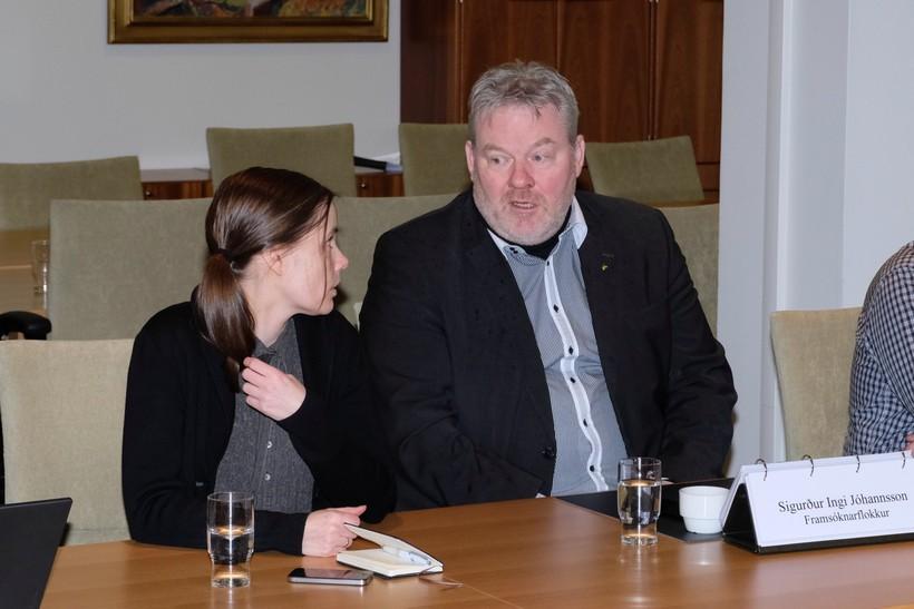 Katrín Jakobsdóttir og Sigurður Ingi Jóhannsson, formenn VG og Framsóknarflokksins, ...