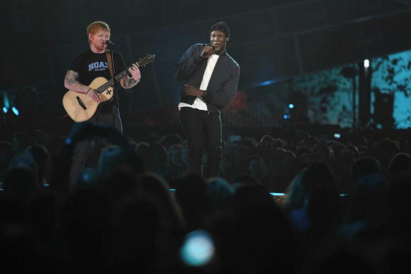 Ed Sheeran og Stormzy.