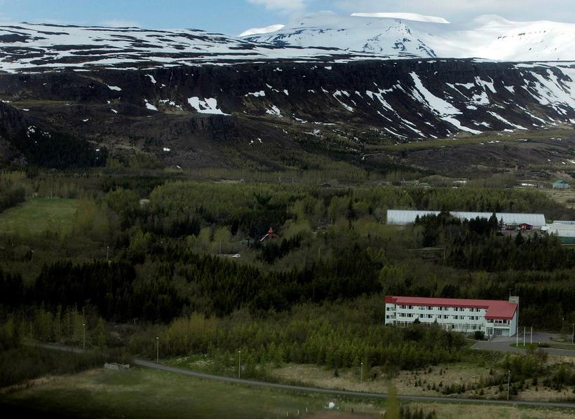 Kjarnaskógur is just a few minutes drive from Akureyri centre.