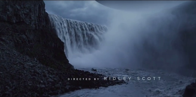 From the opening titles of Ridley Scott's Prometheus.