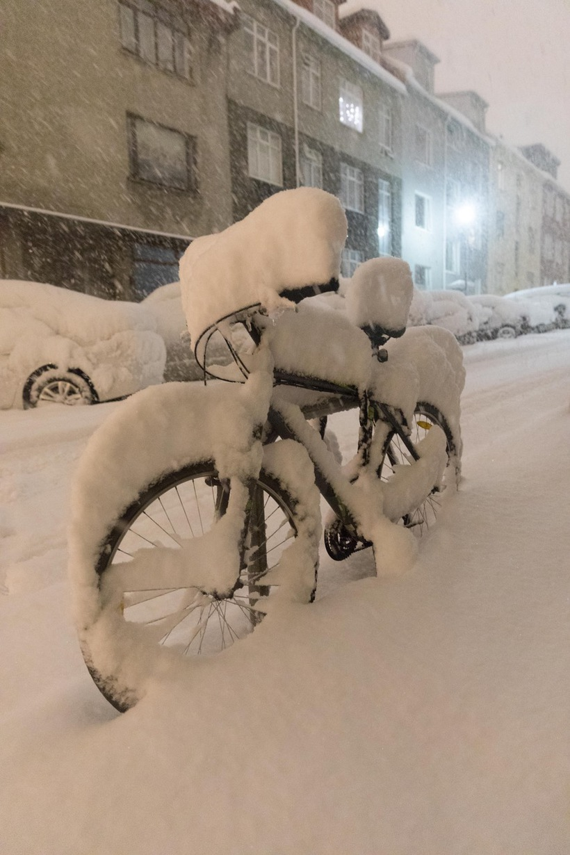Not the ideal season for biking.