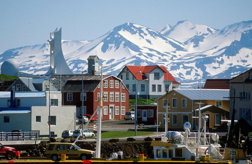 Stykkishólmur is a charming village with stunning scenery.