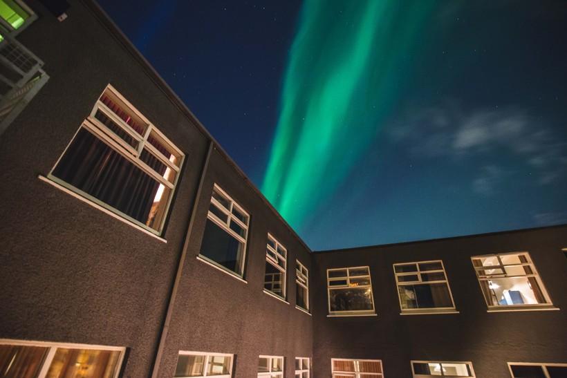 Northern Lights over Kex Hostel