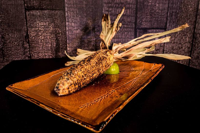 Elote - grilled corn on the cob.