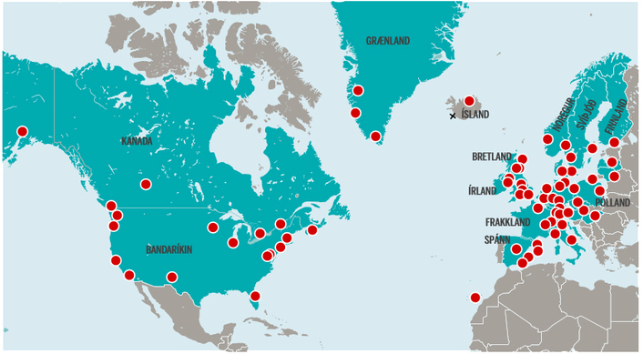 Flights to Iceland from 78 destinations - Iceland Monitor on lot polish route map, delta airlines 757 seat map, union pacific railroad route map, florida route map, biman route map, casino express route map, tacv route map, new jersey transit route map, xtra airways route map, jetblue route map, south african airways route map, volaris route map, airline route map, flying tiger line route map, jfk airtrain route map, xl airways route map, republic airways holdings route map, tame route map,
