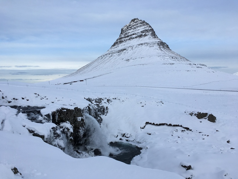 Kirkjufell is no less stunning in winter than in summer