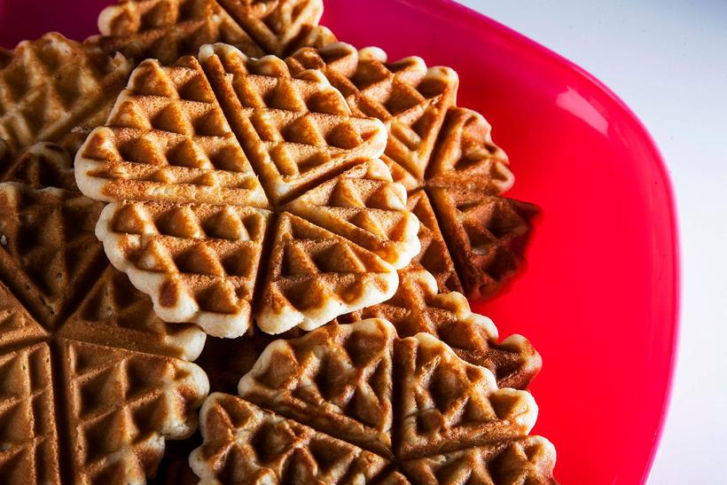 Waffles with jam are a typical thing to eat at ...
