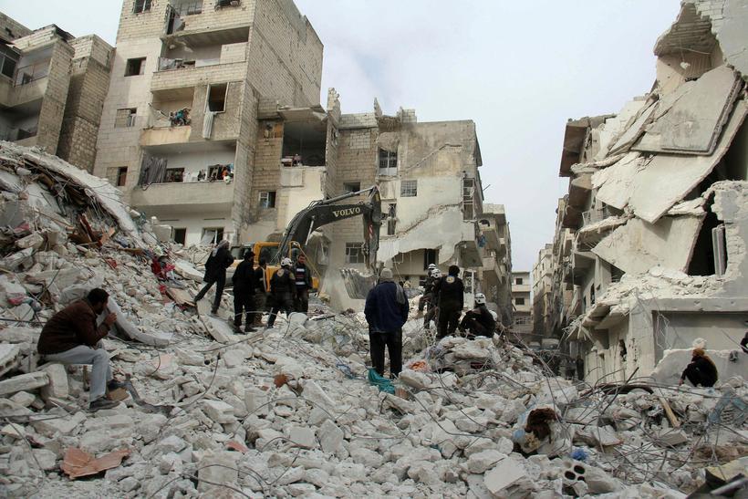 Bærinn Ariha í Idlib.