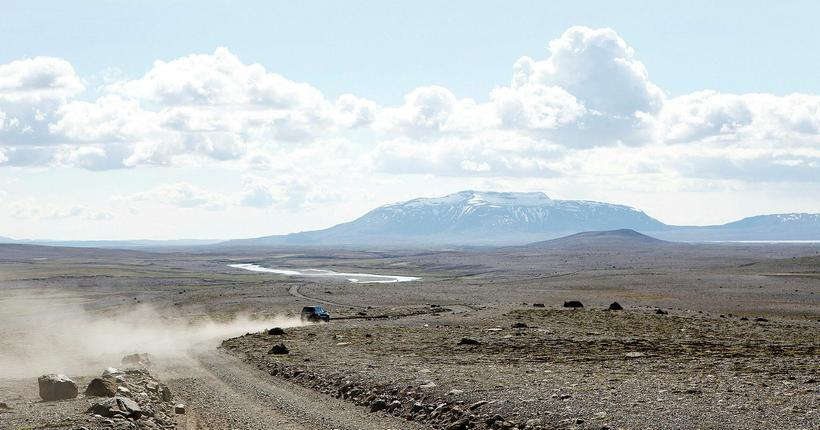 Kjalvegur highland road.