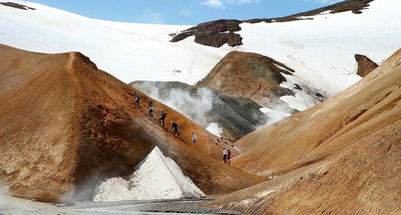 Hot springs and what seems like ever lasting snow in ...