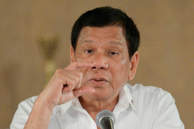 Rodrigo Duterte forseti Filippseyja.