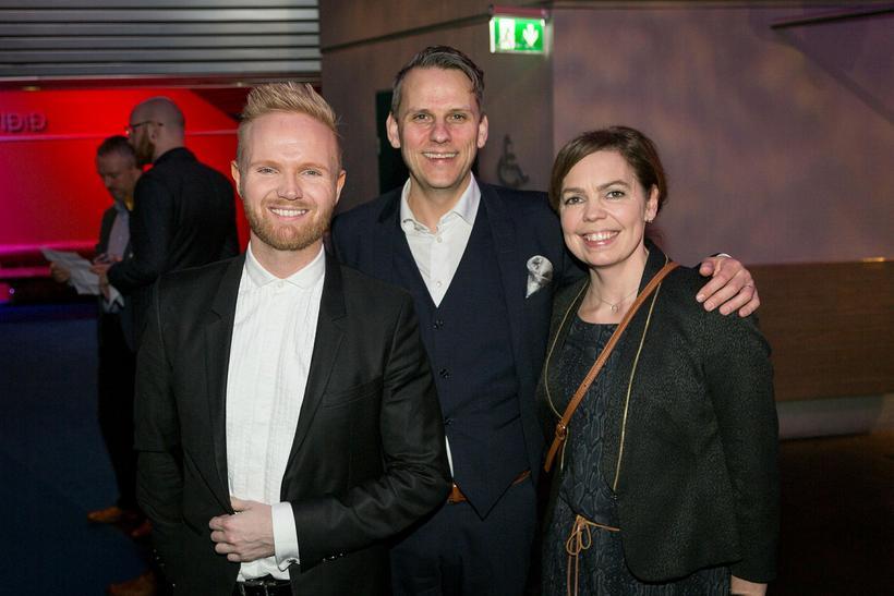 Friðrik Ómar, Magnús Geir Þórðarson og Ingibjörg Ösp.
