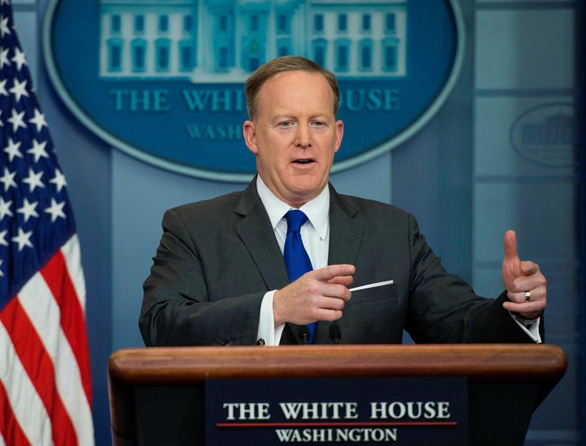 Sean Spicer, blaðafulltrúi Hvíta hússins.