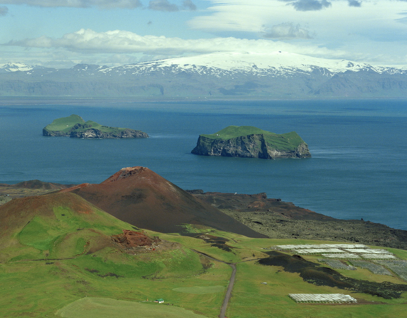 Eldfell is the newest mountain in Iceland outside of the ...