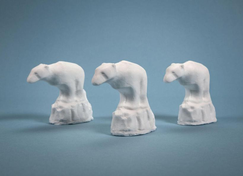 The gorgeous polar bear soap made by designer Gísli Hilmarsson.
