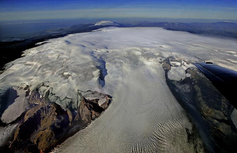 Katla is located underneath Mýrdalsjökull Glacier.