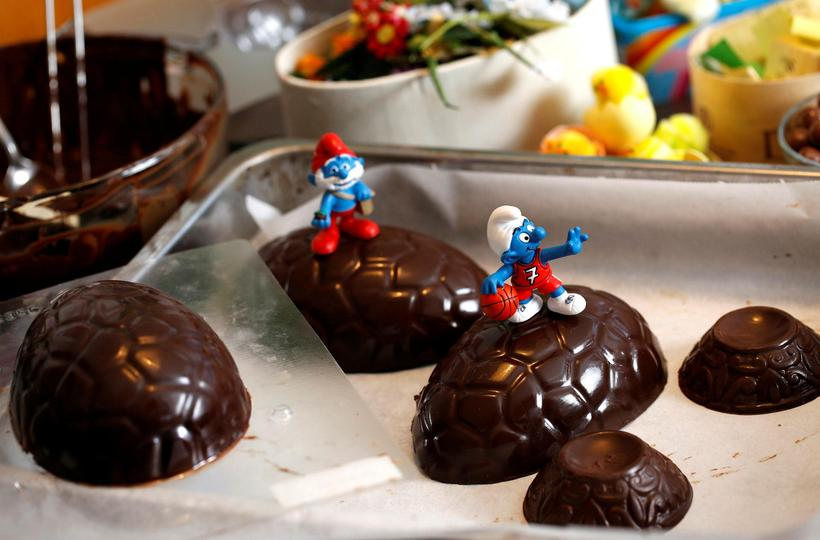 Smurfs have adorned Icelandic chocolates for decades.