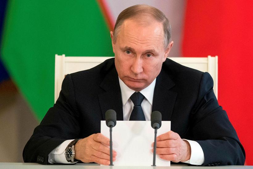 Vladimír Pútín forseti Rússlands.