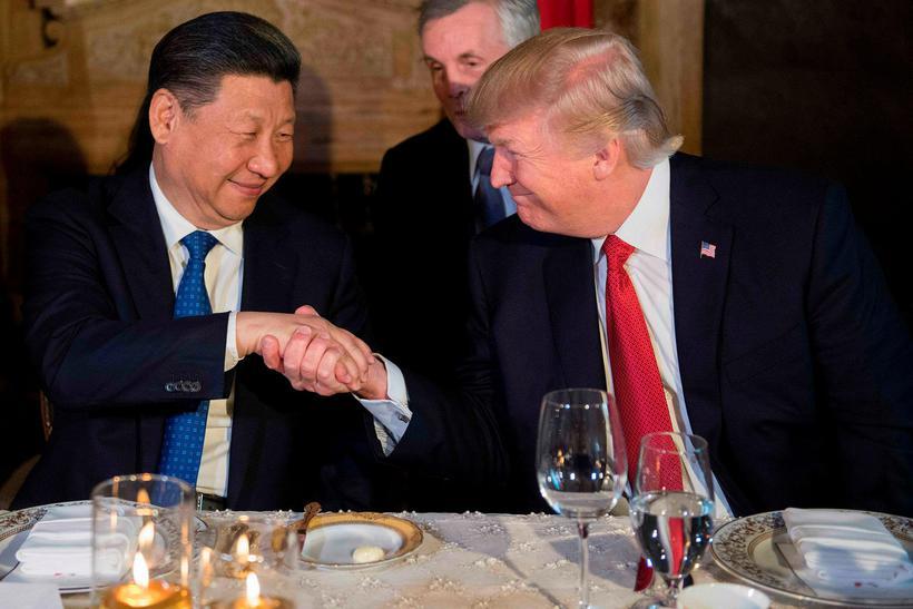 Xi Jinping forseti Kína og Donald Trump forseti Bandaríkjanna.