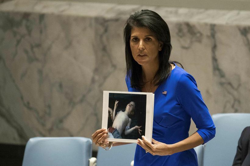 Nikki Haley fulltrúi Bandaríkjanna hjá SÞ.