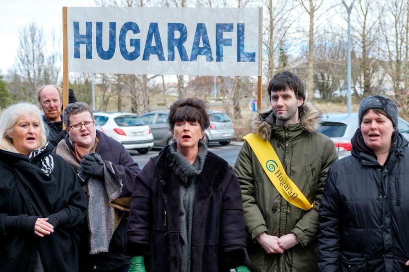 Hugarafl hefur áður mótmælt niðurskurði í fjárframlögum til samtakanna. Velferðarráðuneytið ...
