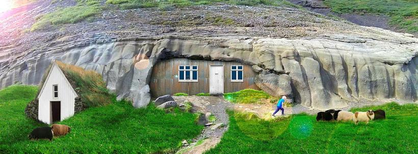 Laugarvatnshellir var áður nær alfaraleið og þar gátu vegfarendur keypt ...
