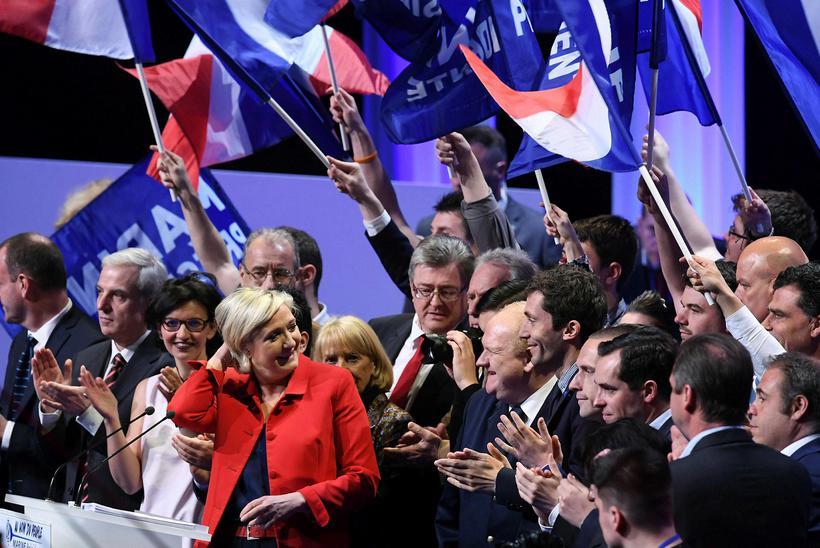Liberation sagði ræðu Marine Le Pen, forsetaframbjóðanda Þjóðfylkingarinnar, vera mestu ...