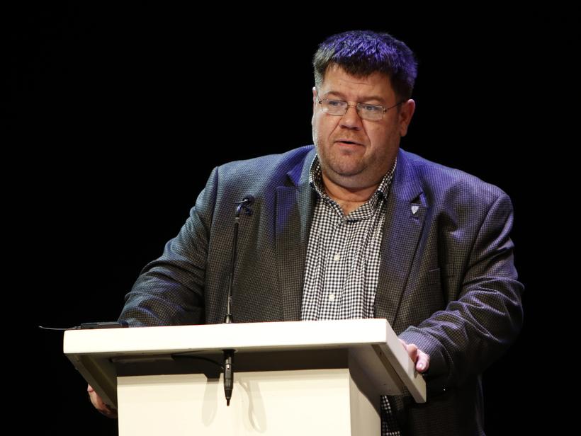 Matthías Rögnvaldsson, forseti bæjarstjórnar Akureyrar, flutti ávarp.
