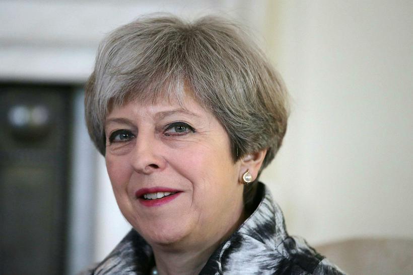 Theresa May, forsætisráðherra Bretlands og leiðtogi breska Íhaldsflokksins.