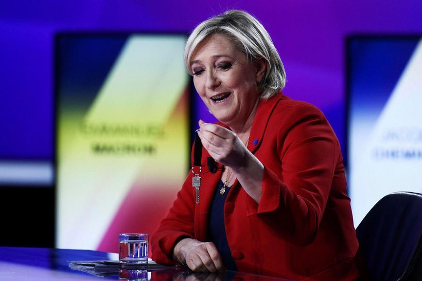 Marine Le Pen vill færa frönsku þjóðinni aftur lyklana.