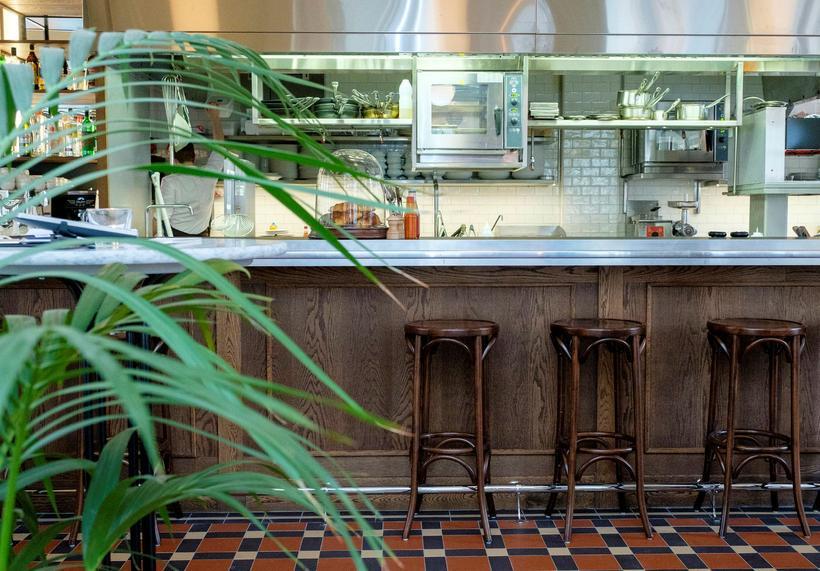 The new bar at Café Paris.