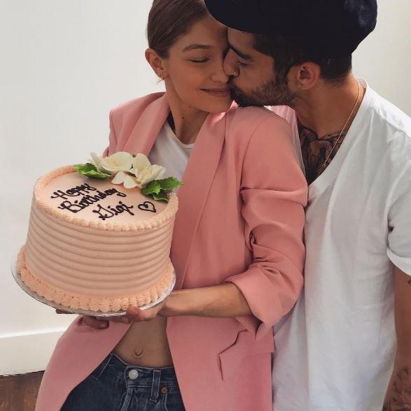 Gigi Hadid ásamt kærasta sínum Zayn Malik.