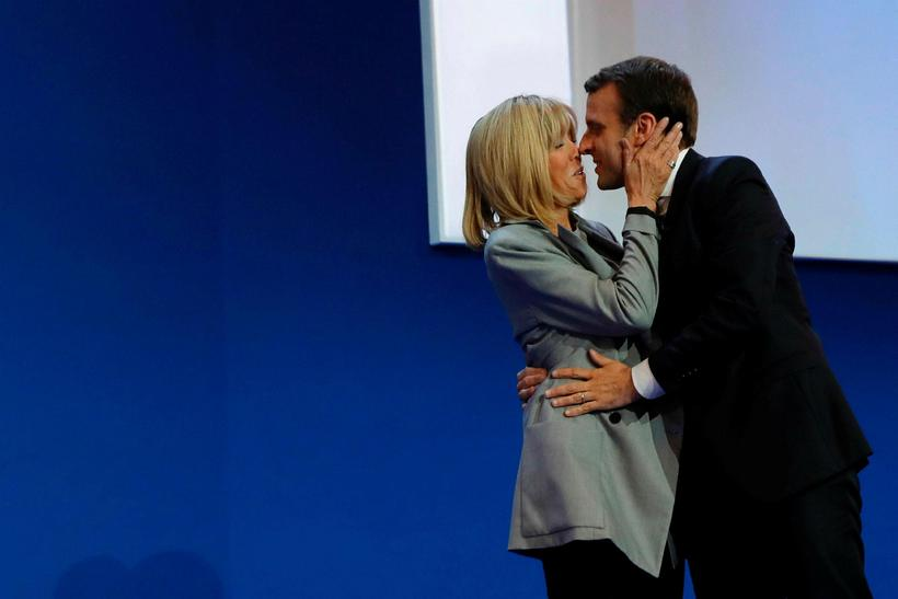 Brigitte og Emmanuel Macron.