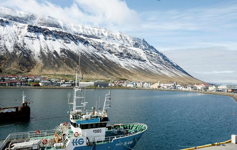 Ísafjörður is the biggest town in the West Fjords.
